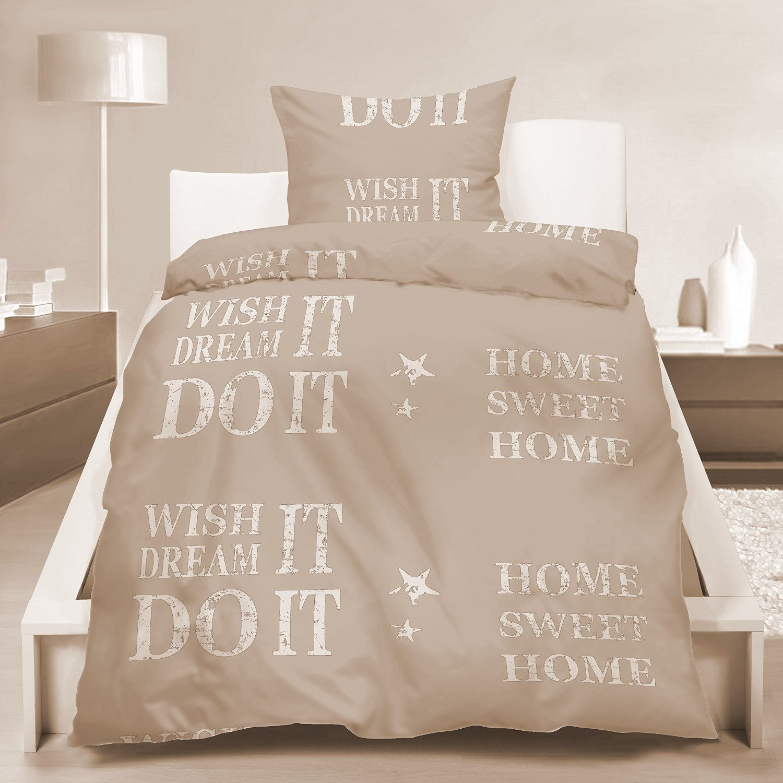 microfaser bettw sche sweet home 31433. Black Bedroom Furniture Sets. Home Design Ideas